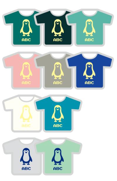 Tシャツ十種