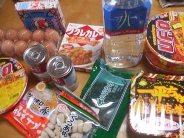 各商店で買った食糧
