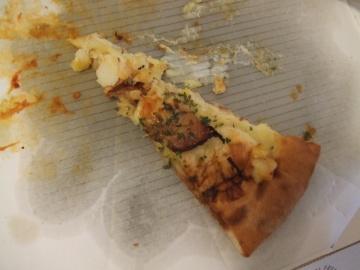 翌朝のピザ