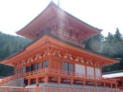 比叡山にて