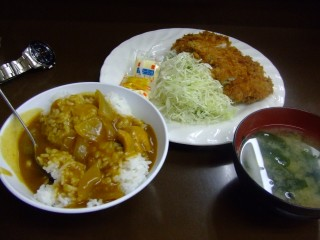 とんかつ定食 feat. カレー