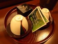 桟敷席のお茶